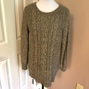 St. Johns Bay l Brown Oatmeal Cable Sweater